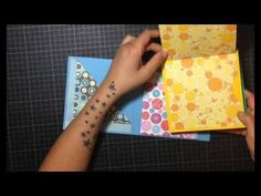 SCRAPBOOKING MINI ÁLBUM CON BOLSILLOS Y DESPLEGABLES - YouTube