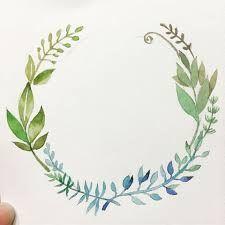 수채화 일러스트 식물에 대한 이미지 검색결과 Wreath Watercolor, Watercolor Flowers, Watercolor Paintings, Arts And Crafts, Diy Crafts, Instagram Highlight Icons, Flower Frame, Botanical Art, Paint Colors