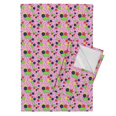 Shapes on baby pink on Orpington by diseniaz Shapes For Kids, Basic Shapes, Tea Towels, Color Splash, Floral Tie, Spoonflower, Cotton Canvas, Dining, Party