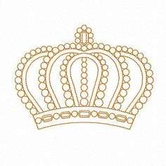 Redwork Crown machine embroidery design by EmbroideryByLada