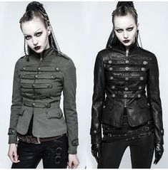 d716a2dc8011c This steampunk vest in black has an open-chest design and below it ...