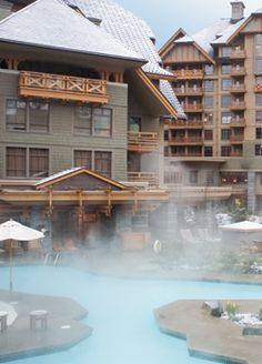There is nothing better than dipping into the hot tub on a snowy winter night. #whistler #fourseasons