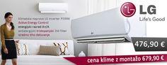 Klimatska naprava z vključeno montažo ali brez! Zagotovite si jo pravočasno, naj vas vročinski val ne preseneti ;)  Klimatska naprava LG Standard P09RK, en. razred A/A+, 3700 W/4100 W