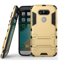 LG G5 Case,DIOS CASE(TM) Light Duty Ultra Slim Fit Rugged Hybrid Dual Layer Hard Armor Detachable Full Body Protective Kickstand Case Cover for LG G5 (Gold) * Continue to the product at the image link.