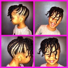 Cute natural up do style for little girl