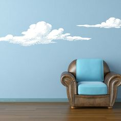 Clouds Wall Decal  - this would be cute for a babys room