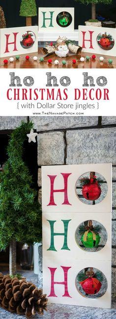 Diy Christmas decoration | HO HO HO Christmas decor | Dollar Store Christmas decoration| Scrap wood home decor | Upcycled Christmas decoration | Cheap