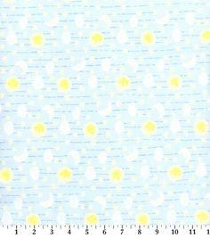 Snuggle Flannel Fabric Celestial Sky On Blue