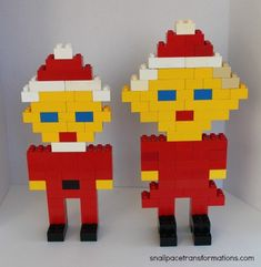 Santa and his wife duplo