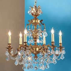 Classic Lighting Chateau Imperial 6 Light Crystal chandelier Crystal Type: Swarovski Spectra, Finish: French Gold