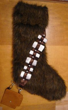 Wookie stocking by AmmersVI, via Flickr