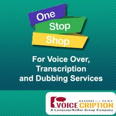 Voicecription is an ISO 9001-2008 certified company.  #VoiceOverIndia