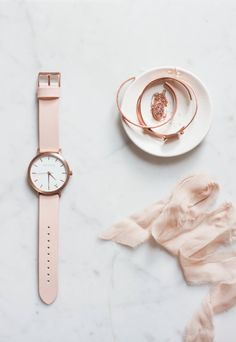 b is for bonnie loves The Fifth Watches | blush + rose gold watch via The Fifth Watches as seen on b is for bonnie design
