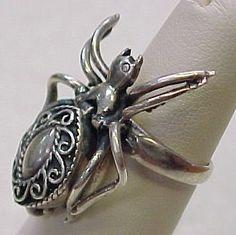 Vintage Sterling Silver Poison Ring