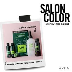 Get salon color (without the salon! Avon CHI Essentials Hair Color blends professional formulas with aloe, silk, olive oil and other natural ingredients to give you vibrant color, guaranteed gray coverage and radiant shine. Long Hai, Chi Hair Products, Avon Products, Natural Products, Olive Oil Hair, Stop And Shop, Hair Essentials, Oil Shop, Hair Locks
