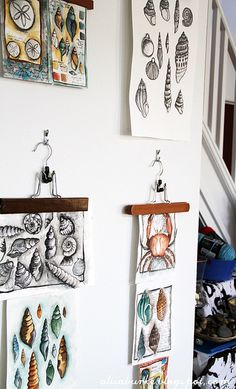 clever way to hang art and change it out