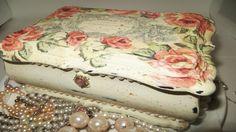 DIY Jewelry Box Upcycle Chalk Paint transfer decoupage
