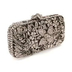 Fawziya Wave Mesh Metal Clutch Purse Rhinestone Crystal Women ...