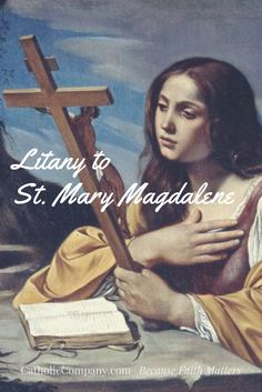 St. Mary Magdalene stood by Our Lord at the foot of the Cross, alongside St. John and the Blessed Mother, and the next morning went to Christ's tomb to anoint his body. As a reward for her great love and faithfulness, she is the first recorded witness of Jesus' Resurrection. It was Mary Magdalene wh
