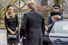 21 March 2017 - Queen and King attend the funeral of Prince Richard of Sayn-Wittgenstein-Berleburg in Germany