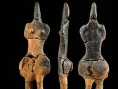 """French archaeologists have discovered an extremely rare example of a neolithic """"earth mother"""" figurine on the banks of the river Somme.    The 6,000-year-old statuette is 8in high, with imposing buttocks and hips but stubby arms and a cone-like head. Similar figures have been found before in Europe but rarely so far north and seldom in such a complete and well-preserved condition."""