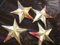How to make tin stars out of soda cans