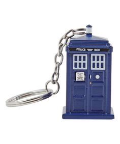 UK Imported Metal Keychain Keyring TARDIS Key Doctor Who BBC Classic TV Series