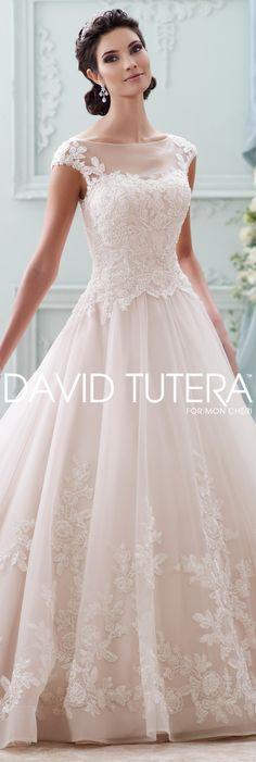 The David Tutera for Mon Cheri Fall 2015 Wedding Gown Collection - Style No. 215281 Sherri #laceweddingdresses