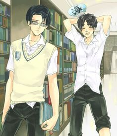 That moment when Levi is almost as tall as Eren XD