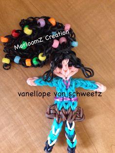 Rainbow loom vanellope von schweetz - Wreck it Ralph- Updated with Small pony beads: MarloomZ Creations