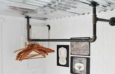 Industrial Laundry Room Drying Clothing Rack Plumbing Pipe