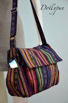 Nepali hippie style handbag, Cross body bag, Boho, Bohemian bag, Shoulder bag, Sling bag, Messenger bag, Purse MN124