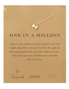 Dogeared One In A Million Necklace Women's Gold