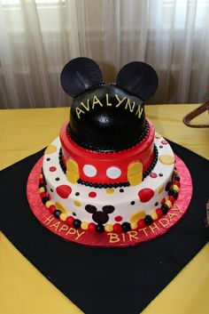 Mickey Mouse Birthday Party cake!  See more party ideas at CatchMyParty.com!