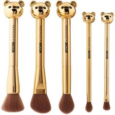 MOSCHINO SEPHORA Bear Brush Set SEPHORA COLLECTION (€46) ❤ liked on Polyvore featuring beauty products, makeup, makeup tools, makeup brushes, beauty, cosmetics, filler, set of brushes and set of makeup brushes
