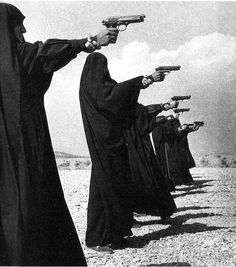 The female Basij Militia, photographed at the height of the Iran-Iraq war by Jean Gaumy, 1986