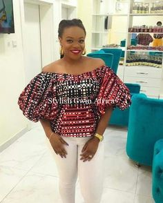 65 of the latest stylish and trendy Ankara tops to wear with your Jeans trousers, Pleated and Pencil Skirts. This post will help you in finding that perfect Ankara fabric & design for your tops. African Blouses, African Tops, African Wear, African Attire, African Women, Ankara Tops, Ankara Styles, African Inspired Fashion, African Print Fashion