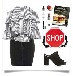 """""""City"""" by shoujoandmore ❤ liked on Polyvore featuring Topshop, Caroline Constas, Moschino, MAKE UP FOR EVER, Tony Moly, Burberry, modern and city"""