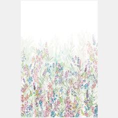 Digitalprint Blomster mark 150x225cm
