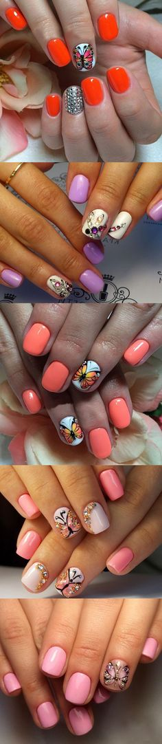 Simple Butterfly Nails