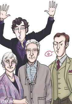 """(gif) Sherlock Family Portrait..."" — Such perfection."