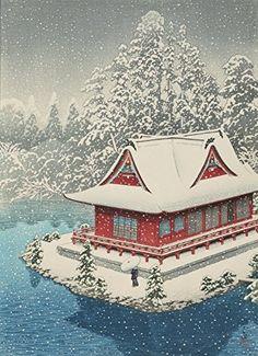 "Japanese Art Print ""Shrine of Benten at Inokashira, in Snow (Inokashira no Yuki)"" by Kawase Hasui. Shin Hanga and Art Reproductions http://www.amazon.com/dp/B00Y25UFOU/ref=cm_sw_r_pi_dp_goSvwb1Y4XN3R"