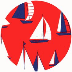 adorable fabric--Ship Shape by Alice Kennedy