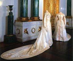 Dresses worn by Olga and Tatiana Romanov in 1913.