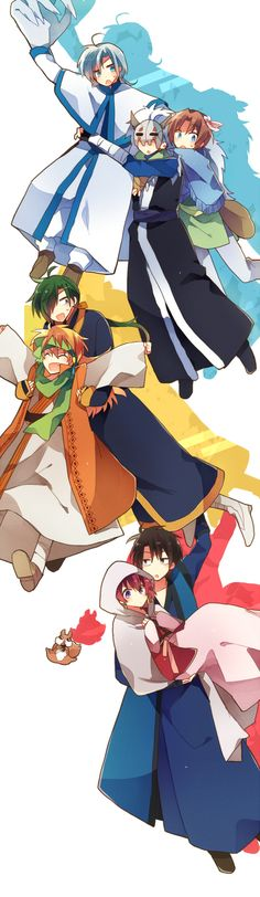 Akatsuki no Yona- I love this anime it is ongoing and to be completed soon nooooo! It's really good it's action and reverse harem but also traditional Japan (ish)