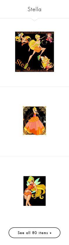 """Stella"" by bambolinadicarta-1 ❤ liked on Polyvore featuring fairy, stella, winx, winxclub, winx club, fairies and manga"