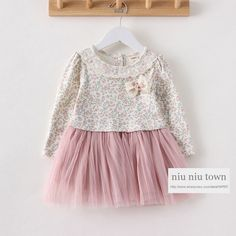 00029 TJ-M68 Free shipping 6 pcs/lot Wholesale Kids Autumn Floral lace collar tutu dress children dress children http://www.aliexpress.com/store/1047972