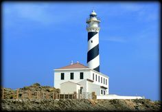 Menorca lighthouse. One of the unique features of this island is the set of lighthouses that are scattered around all sides.