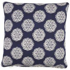 Blue Medallion Decorative Pillow  by John Robshaw Textiles on HomePortfolio