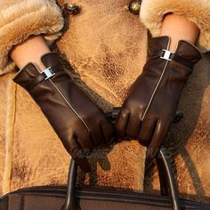 For driving my dream car Brown leather gloves